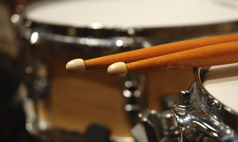 Two drum sticks